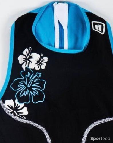 Triathlon - Combi-short oSuit motif fleur