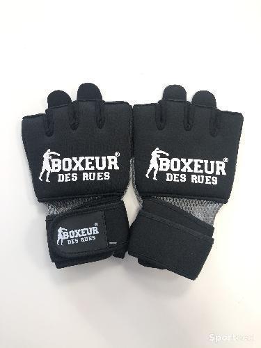 Boxeur de rues - Gants de Fit Boxing noir et gris - L / XL